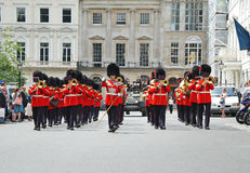 Marching Band of the Coldstream Guards Stock Image
