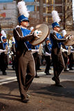 Marching Band Cymbal Players Perform In Atlanta Christmas Parade Royalty Free Stock Image