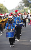 Marching band. The delegation marching bands enliven carnival culture, in the middle Solo.centralJawa , Indonesia Royalty Free Stock Photos