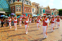 Marching band at disneyland hong kong Royalty Free Stock Photo