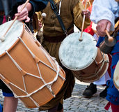 Marching band drummers. Germany-Bretten Stock Image