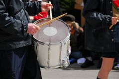 Marching band drums Stock Photography