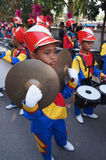 Marching band. Elementary students were preparing to parade marching band in the city of Solo, Central Java, Indonesia Royalty Free Stock Photography