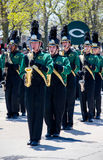 marching band in green Royalty Free Stock Photography
