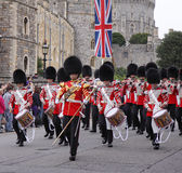 Marching band of the Grenadier Guards Royalty Free Stock Image