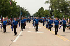 Marching band in an independence day parade Stock Photo