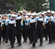 Marching Band With Instuments Royalty Free Stock Photos