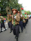 Marching band. Of Islamic Organizations in action on the streets in the city of Solo, Central Java, Indonesia Stock Photography
