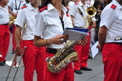 Marching band in Italy stock photo