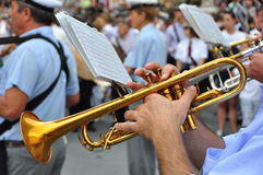 Marching band in Italy Royalty Free Stock Photo