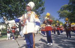 Marching Band in July 4th Parade, Pacific Palisades, California Royalty Free Stock Photography