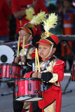 Marching band. Kindergarten students are following the marching band competition in the tourist park in the city of Solo, Central Java, Indonesia Stock Photography
