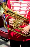 Marching band member. Royalty Free Stock Photography