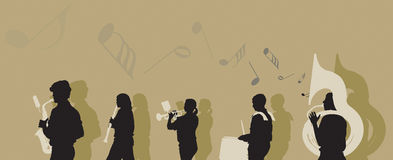 Marching Band. Vector illustration of a Marching Band vector illustration