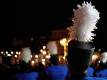 Marching band in the night Stock Image