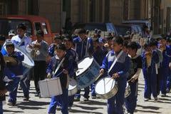 Marching band, oruro, Bolivia Stock Photos