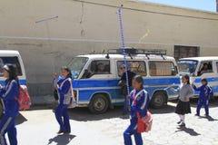 Marching band, oruro, Bolivia Stock Photography