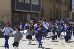 Marching band, oruro, Bolivia Royalty Free Stock Image