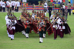 Marching Band of Pakistan Army! Royalty Free Stock Photography
