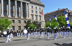 Marching band of  Parade. Royalty Free Stock Photography