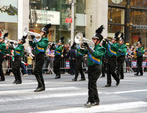 Marching Band on Parade. A band marching on Columbus Day Parade,NYC 2010 Stock Image