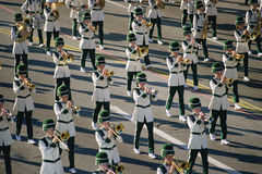 Marching band in parade Royalty Free Stock Photography