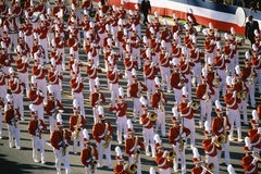 Marching band in parade Royalty Free Stock Photos