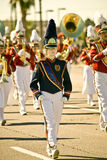 Marching Band in Parade. Marching Band in the Parada Del Sol (called world's largest horse drawn parade) held in February in Scottsdale Arizona Royalty Free Stock Images