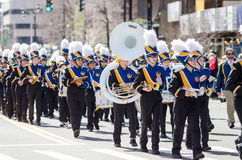 Marching Band at Parade in America Royalty Free Stock Images