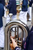 Marching band. Is playing in the celebrations Royalty Free Stock Photos