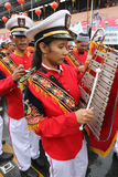 Marching band. Prepares to parade in chinese new year celebration in the city of Solo, Central Java, Indonesia Stock Photography