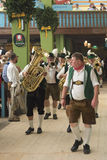Marching Band in the Spatenbrau Tent Royalty Free Stock Photography
