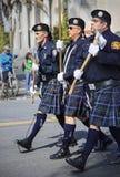Marching band at St. Patrick's Day Parade Royalty Free Stock Photo