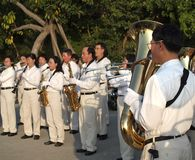 Marching Band in Taiwan Plays Royalty Free Stock Photography