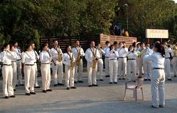 Marching Band in Taiwan Plays Royalty Free Stock Image