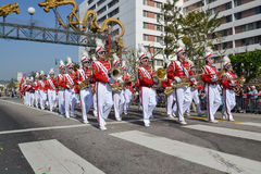 Marching band during the 117th Golden Dragon Parade Stock Photo