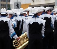 Marching Band With Tuba Royalty Free Stock Images