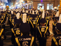 Marching Band from UC Davis at Parade 2016 San Francisco CA Royalty Free Stock Photography
