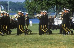 Marching Band, United States Naval Academy, Annapolis, Maryland Stock Photo