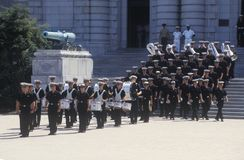 Marching Band, United States Naval Academy, Annapolis, Maryland Royalty Free Stock Images