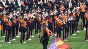 Marching Band, Woodwinds stock video footage