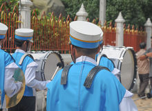 Marching band. Young marching band, learning by doing school at Thailand Royalty Free Stock Image