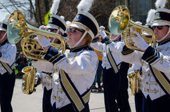 Marching bandin a parade Royalty Free Stock Photo