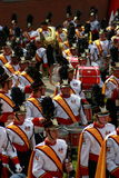 The marching bands in American College football Royalty Free Stock Images