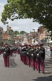 Marching British soldiers in Winchester England UK Stock Images