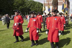 Marching Chelsea pensioner Royalty Free Stock Photography