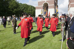 Marching Chelsea pensioners Royalty Free Stock Images