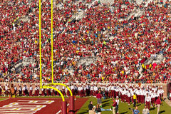 The Marching Chiefs Band. Tallahassee, Florida - Oct. 22, 2011: The Marching Chiefs, the largest college band, performs at half-time at a Florida State home Stock Photography