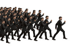 Marching Clones follow Leader Stock Photography