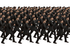 Marching Clones on white background Royalty Free Stock Photos